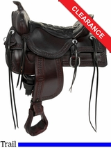 """SOLD 2016/02/06 18.5"""" Tucker Saddles Old West Trail Saddle 277 CLEARANCE"""