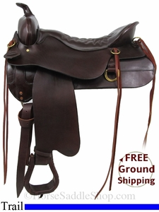 "NO LONGER AVAILABLE 18.5"" Used Tucker Trail Saddle ustk2871 *Free Shipping*"
