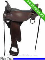 "18"" Circle Y Sheridan Flex2 Trail Saddle 1572"