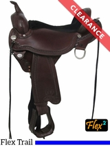 "SOLD 2017/01/16  15"" Circle Y Sheridan Flex2 Trail Saddle 1572 CLEARANCE"