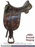 "PRICE REDUCED! 18"" Outback Saddlery Australian Saddle usau2681 *Free Shipping*"