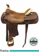 """SOLD 2016/09/12  18"""" Used Billy Cook Wide Roper 9111 usbi3554 *Free Shipping*"""