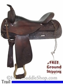 "SOLD 11/27/13 $780 18"" Used Circle Y Trail Saddle uscy2684 *Free Shipping*"