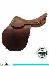 "18"" Used Crosby Hunterdon Medium English Saddle usch3568 *Free Shipping*"