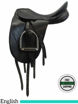"18"" Used Henri De Rivel Medium Dressage Saddle 2019-w04s18 ushd3492 *Free Shipping*"