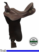 "18"" Used Steele Wide Trail Saddle TB220L usst3424 *Free Shipping*"