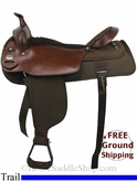 "19"" Used Fabtron Trail Saddle, Wide Tree usfb2795 *Free Shipping*"