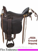 "20"" Used Len Brown Flex Endurance Saddle, Wide Tree uslb2936 *Free Shipping*"