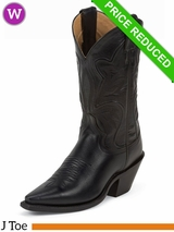 6.5B Justin Womens Black Torino Fashion Boots 4303 CLEARANCE