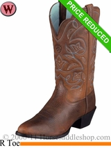 8.5B Ariat Women's Western Heritage R Toe Boots Brown Oiled Rowdy 1017