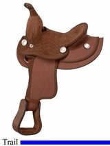 "8"" JT International Miniature All Synthetic Western Saddle KS308"