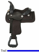 "8"" JT International Miniature Krypton Synthetic Saddle KS408"