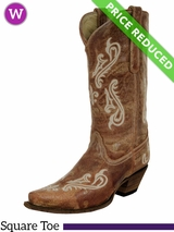 SOLD 2016/12/31  8B Women's Corral Honey Cortez Cleff Embroidery Boots R1974 CLEARANCE