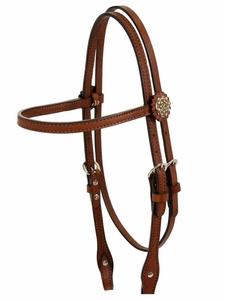 Alamo Caramel Toast Brow Band Headstall 2015-T-3F