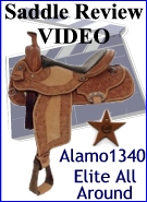 Alamo Elite All Around Saddle 1340 Review Video