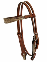Alamo Oldtimer Headstall with Gator Overlay 2800-GB