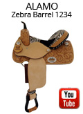 Alamo Zebra Barrel Saddle 1234 Video Review