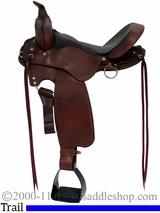 """All NEW 15"""" to 17"""" Fabtron Cross Trail Leather Saddle 7752 7754 7756"""