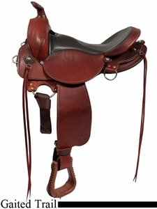 """All NEW 16"""" 17"""" Fabtron Gaited Trail Leather Saddle 7764-s 7766-s"""