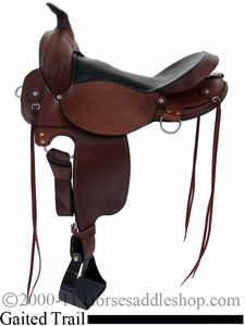 "All NEW 16"" 17"" Fabtron Gaited Trail Leather Saddle 7764-s 7766-s"