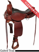 "17"" Fabtron Gaited Trail Leather Saddle 7764-s 7766-s CLEARANCE"