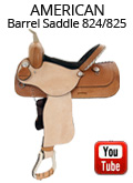 American Saddlery Denero Barrel Saddle 824/825 Video Review