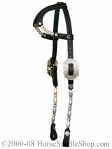 Arabian Double Ear Silver Show Headstall by Circle Y y0288-7100A