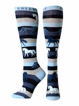 Ariat Women's Horse Striped Knee Socks A10011073