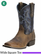 Ariat Kid's Tombstone Earth Black Boots 12794