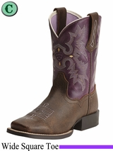 Ariat Kid's Tombstone Plum Boots 15390