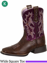 Ariat Kid's Tombstone Plum Boots 10015390