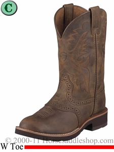 Ariat Kids Heritage Crepe Boots W Toe Distressed Brown 1957