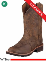 Ariat Kids Heritage Crepe Boots W Toe Distressed Brown 10001957 CLEARANCE