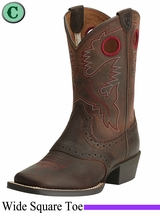 Ariat Kids Roughstock Wide Square Toe Boots 14101