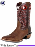 Ariat Men's Crossfire Boots Wide Square Toe Weathered Brown 8803