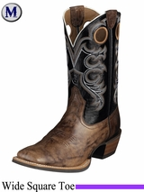 Ariat Men's Crossfire Boots Wide Square Toe Weathered Buckskin 6734