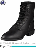 Ariat Men's Heritage Lacer Boots Roper Toe Black 1980