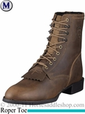 Ariat Men's Heritage Lacer Boots Roper Toe Distressed Brown 1988