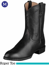 Ariat Men's Heritage Roper Boots Roper Toe Black 10002280
