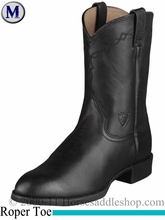 Ariat Men's Heritage Roper Boots Roper Toe Black 2280