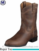 Ariat Men's Heritage Roper Boots Roper Toe Distressed Brown 2284