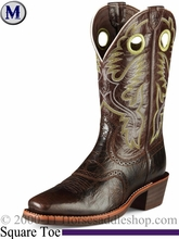 Ariat Men's Heritage Roughstock Boots Square Toe Thunder Brown 7850