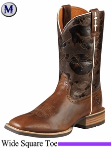 DISCONTINUED Ariat Men's Hot Iron Boots Wide Square Toe Mission Brown 8804