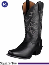 Ariat Men's Legend Boots Square Toe Black Deertan 10002296