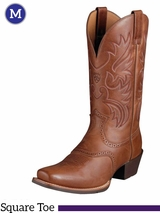 Ariat Men's Legend Boots Square Toe Russet Rebel 10002299
