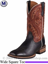 Ariat Men's Quickdraw Boots Wide Square Toe Black Deertan 2221