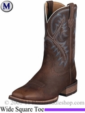 Ariat Men's Quickdraw Boots Wide Square Toe Brown Oiled Rowdy 6714