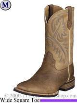 Ariat Men's Quickdraw Boots Wide Square Toe Tumbled Bark 2224