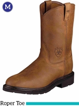 Ariat Men's Sierra Boots Roper Toe Aged Bark 10004986