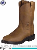 Ariat Men's Sierra Boots Roper Toe Aged Bark Steel Toe 2449